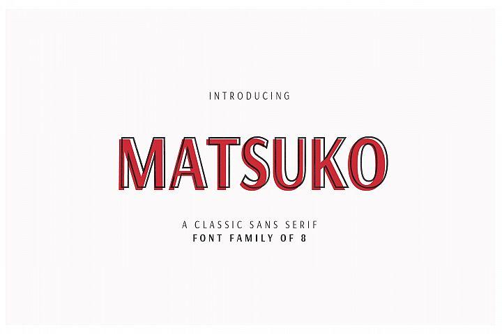 MATSUKO | A CLASSIC FONT FAMILY