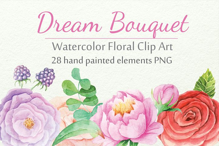 Watercolor Floral DIY Set - Free Design of The Week