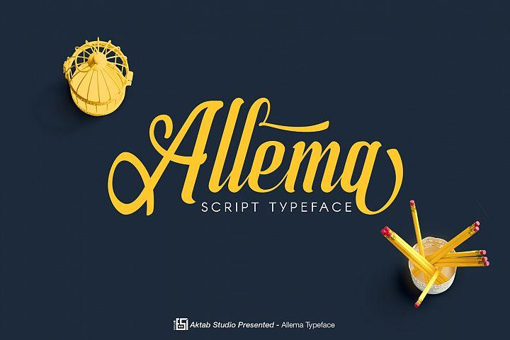 Allema Script Font