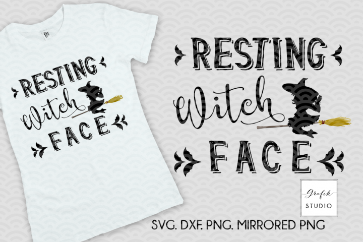 Resting Witch Face Halloween SVG Cut file