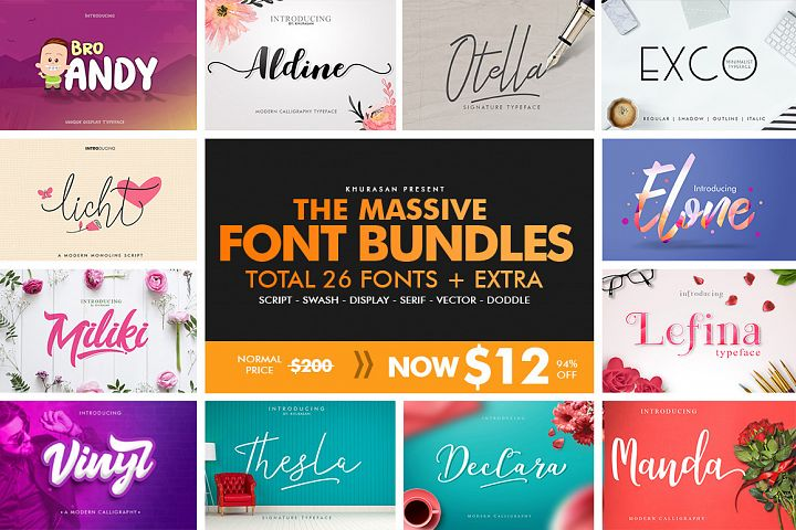 The Massive Font Bundles