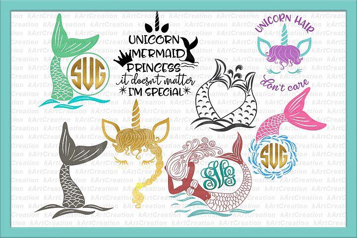 unicorn face svg, mermaid svg, princess svg, fairy svg, unicorn bundle svg, unicorn sale svg files, mermaid tail svg, mermaid monogram svg