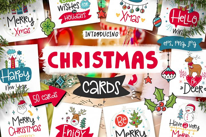 50 Christmas Cards with Quote!