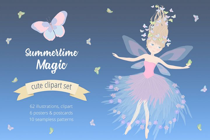 Summertime Magic Illustration Set