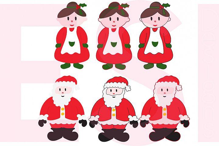 Santa and Mrs Claus Design Set