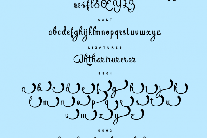 Atlantis Heart - Free Font of The Week Design 8