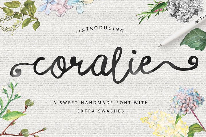 Coralie Typeface