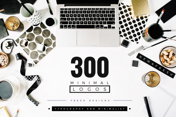 300 Minimal LOGO Design Templates 78% OFF