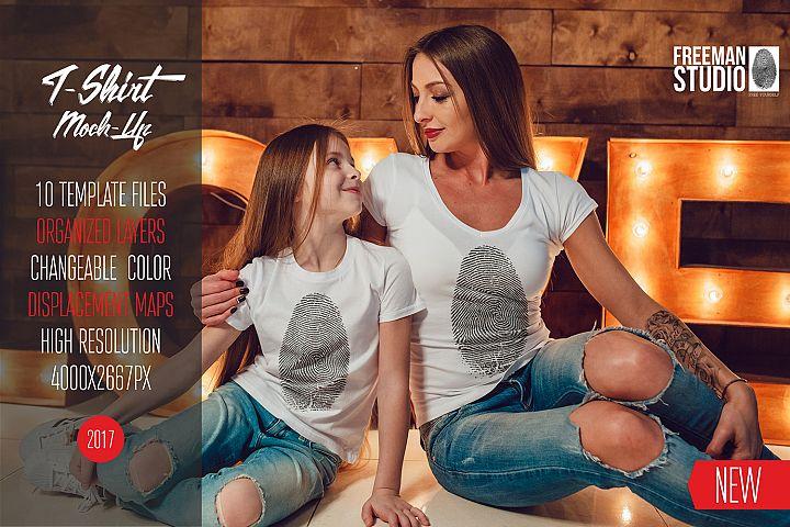 Family T-Shirt Mock-Up Vol.1 2017