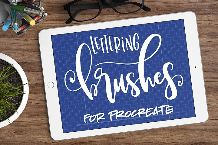 Nine Procreate Brushes for Lettering