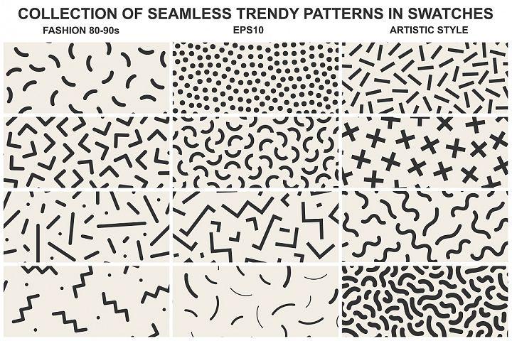 Memphis seamless patterns vol 2