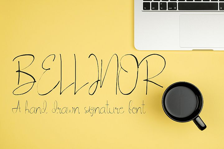 Bellinor A Hand Drawn Signature Font