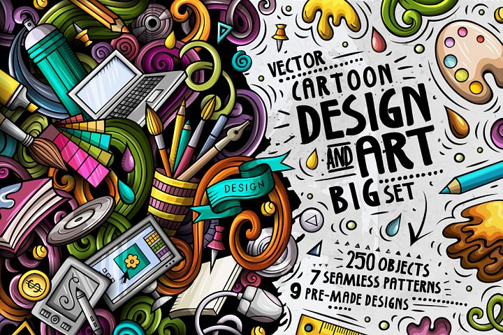 Design & Art Cartoon Doodle Big Pack