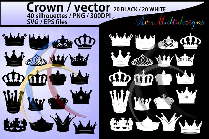 crown svg / High Quality /crown clipart / crown silhouette / crown printable files / crown svg file available / vector crown / Eps / png