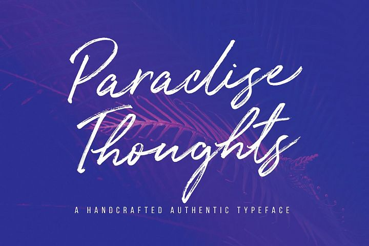 Paradise Thoughts Typeface
