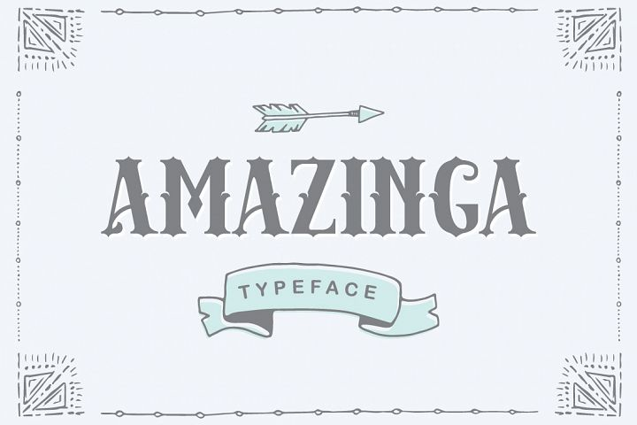 Amazinga Typeface - Free Font of The Week