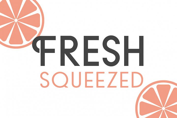 Fresh Squeezed Font Duo
