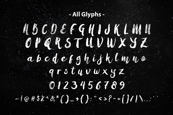 Amulhed Brush - Free Font of The Week Design 2