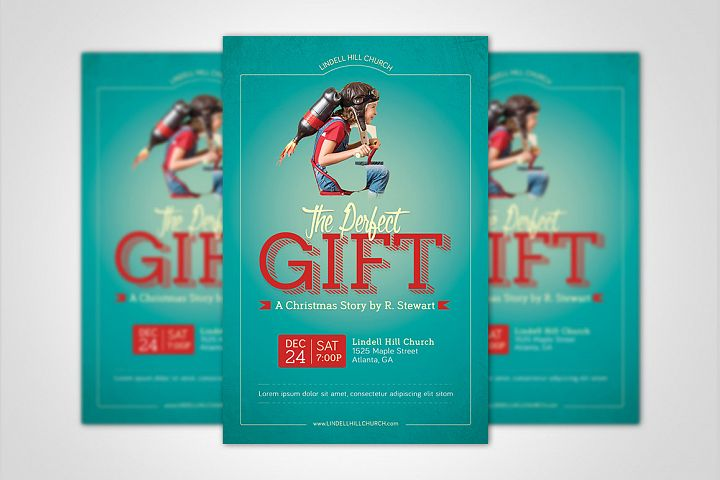 Perfect Gift Church Flyer Poster Template