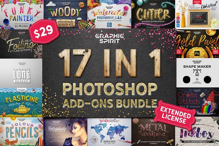 17 IN 1 Photoshop Bundle SALE