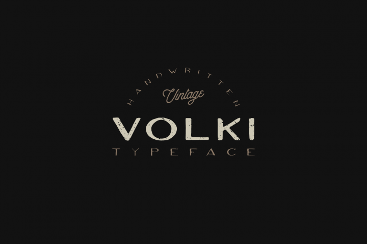 VOLKI - Handwritten Vintage Typeface