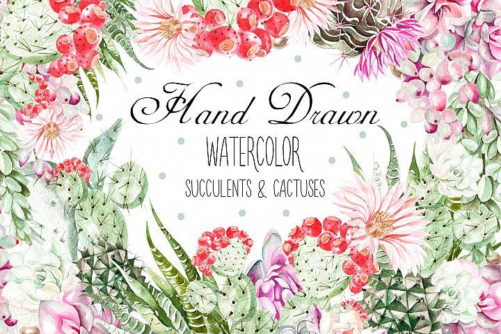 Watercolor SUCCULENTS & CACTUSES