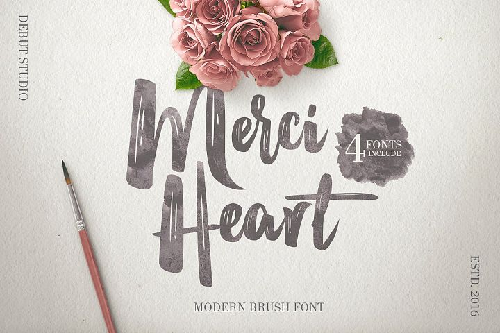 Merci Heart Brush (30% Off)