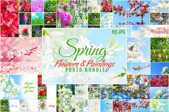 Spring Flowers and Paintings Bundle