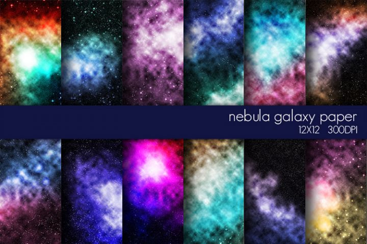 Nebula Galaxy Digital Paper Pack