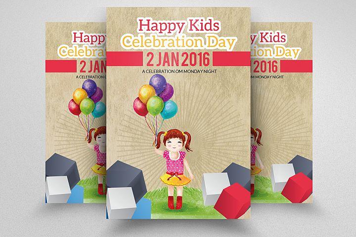 Kids Birthday Invitation Flyer