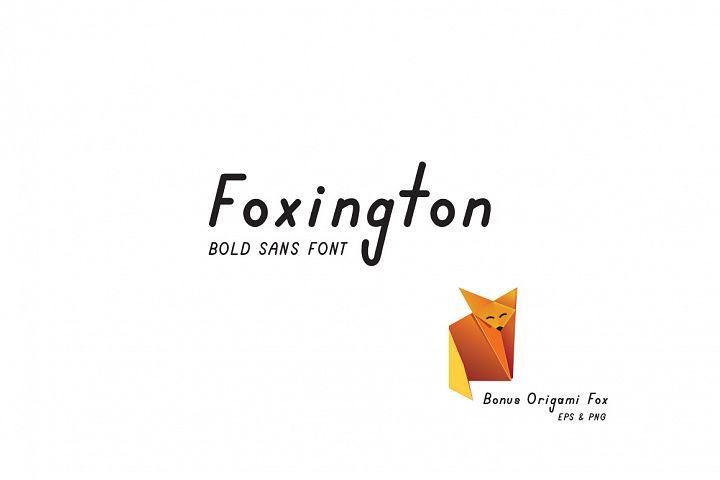 Foxington Sans Font with Bonus Fox Vector