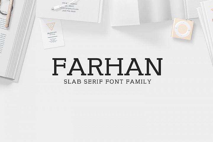 Farhan Slab Serif 5 Font Pack