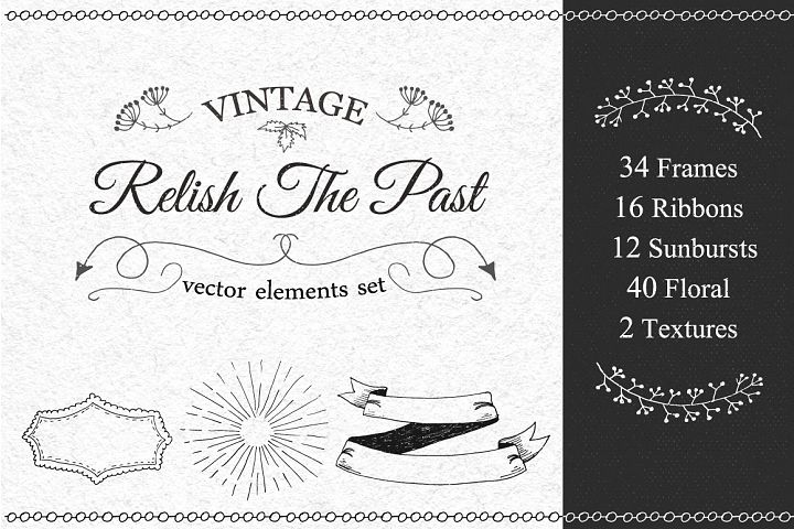 Vintage Vector Elements Set - Free Design of The Week