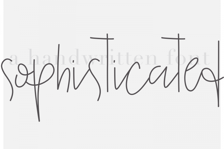 Sophisticated Outfit - A Chic Handwritten Font