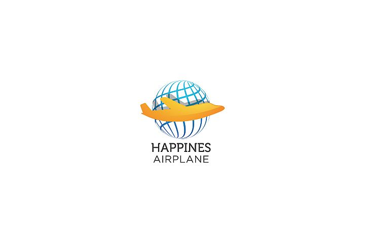 Happines Airplane - Logo Template