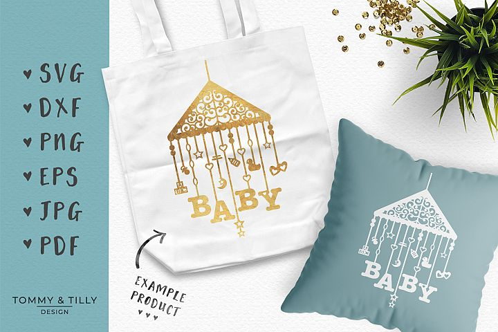 Baby Mobile Bundle - SVG DXF PNG EPS JPG PDF Cutting File example 2