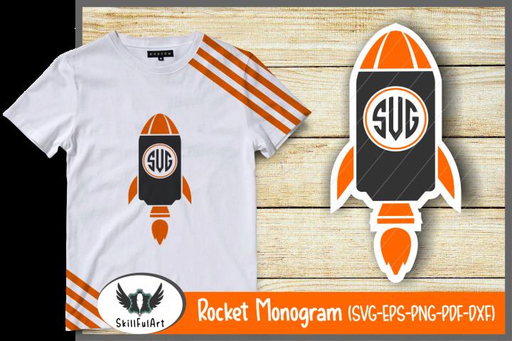 rocket monogram, cut files,