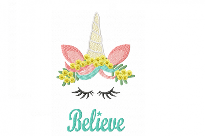 Believe in Miracles and Unicorns ~ Australian Wattle ~ Machine Embroidery Design in 2 sizes