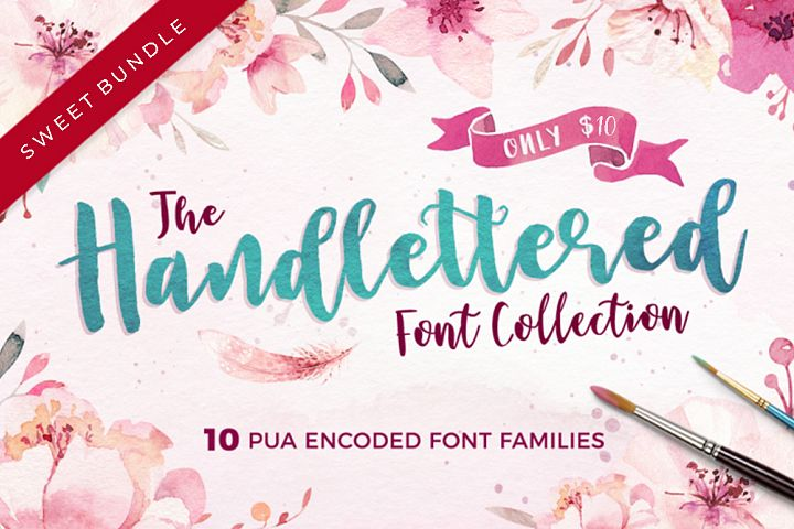 The Handlettered Font Collection