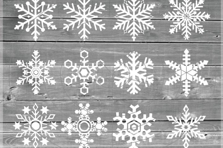 Snowflakes Svg - Snowflake SVG - Christmas SVG - Snow SVG - Xmas svg - Cutting File - Winter clipart - Svg - Dxf - Eps - Png - Jpg - Pdf