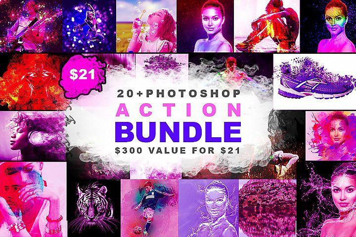 20 in 1 Photoshop Action Bundle