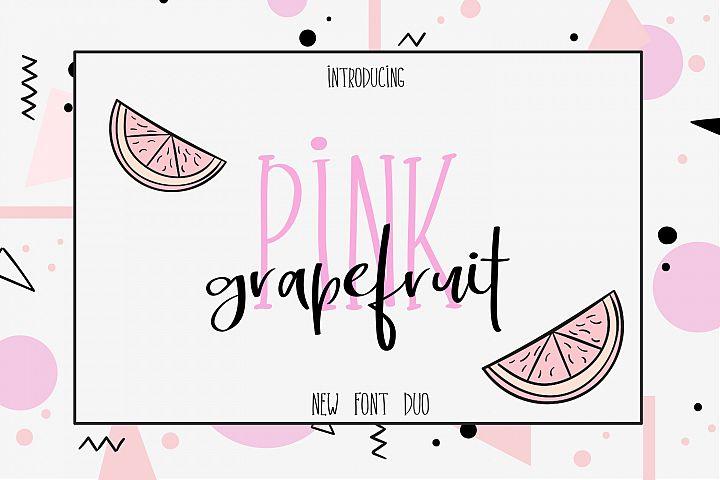 Pink Grapefruit font duo