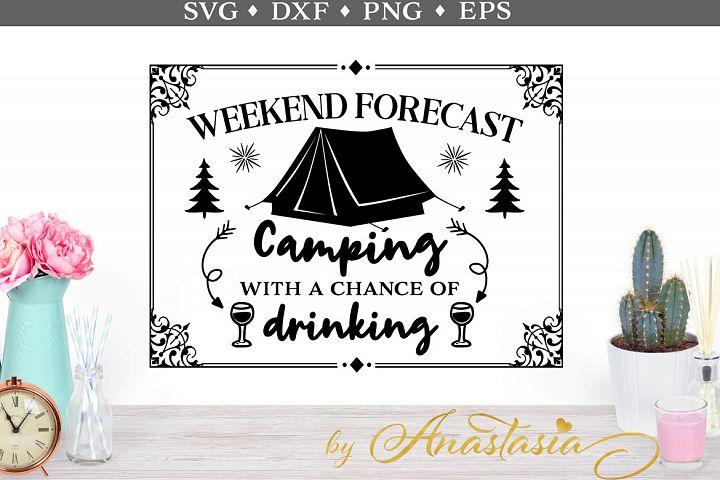 Weekend forecast SVG cut file