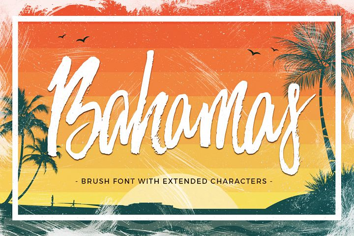 Bahamas Brush Font - Free Font of The Week