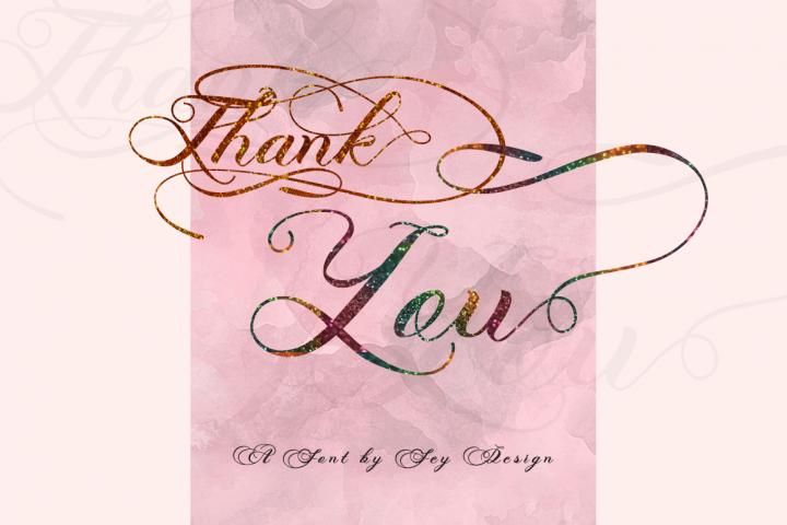 Photograph - Script Wedding Font - Free Font of The Week Design 7