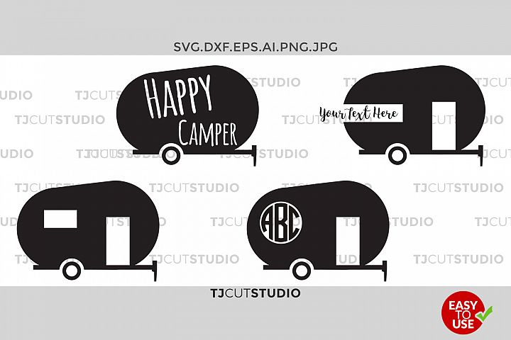 Camper Svg Happy Camper Svg Happy Camper happy camper, Svg Files for Silhouette Cameo or Cricut,