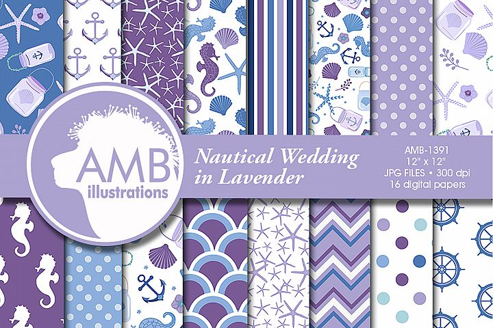 Nautical Wedding in Lavender cliparts AMB-1391