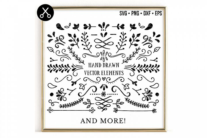 105 HAND DRAWN VECTOR ELEMENTS