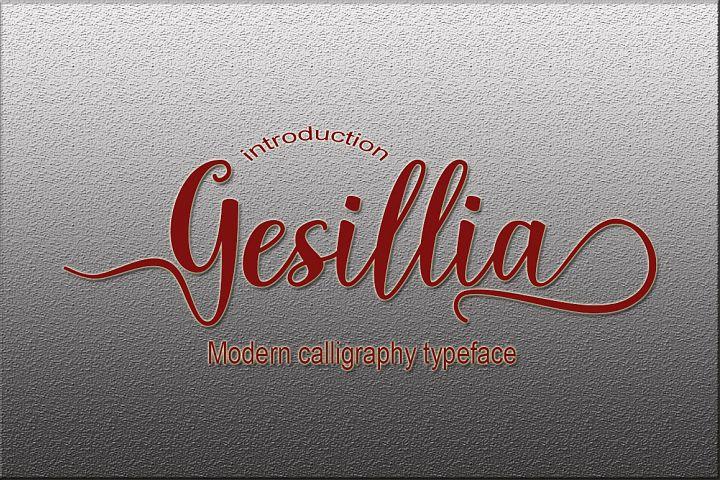 Gesillia Script Font