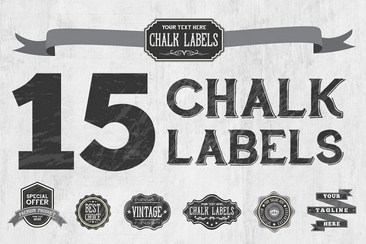 Chalk Badge Labels